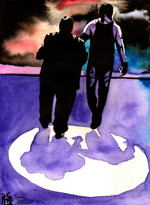 RIP William Moody - Paul Bearer by Rob Schamberger
