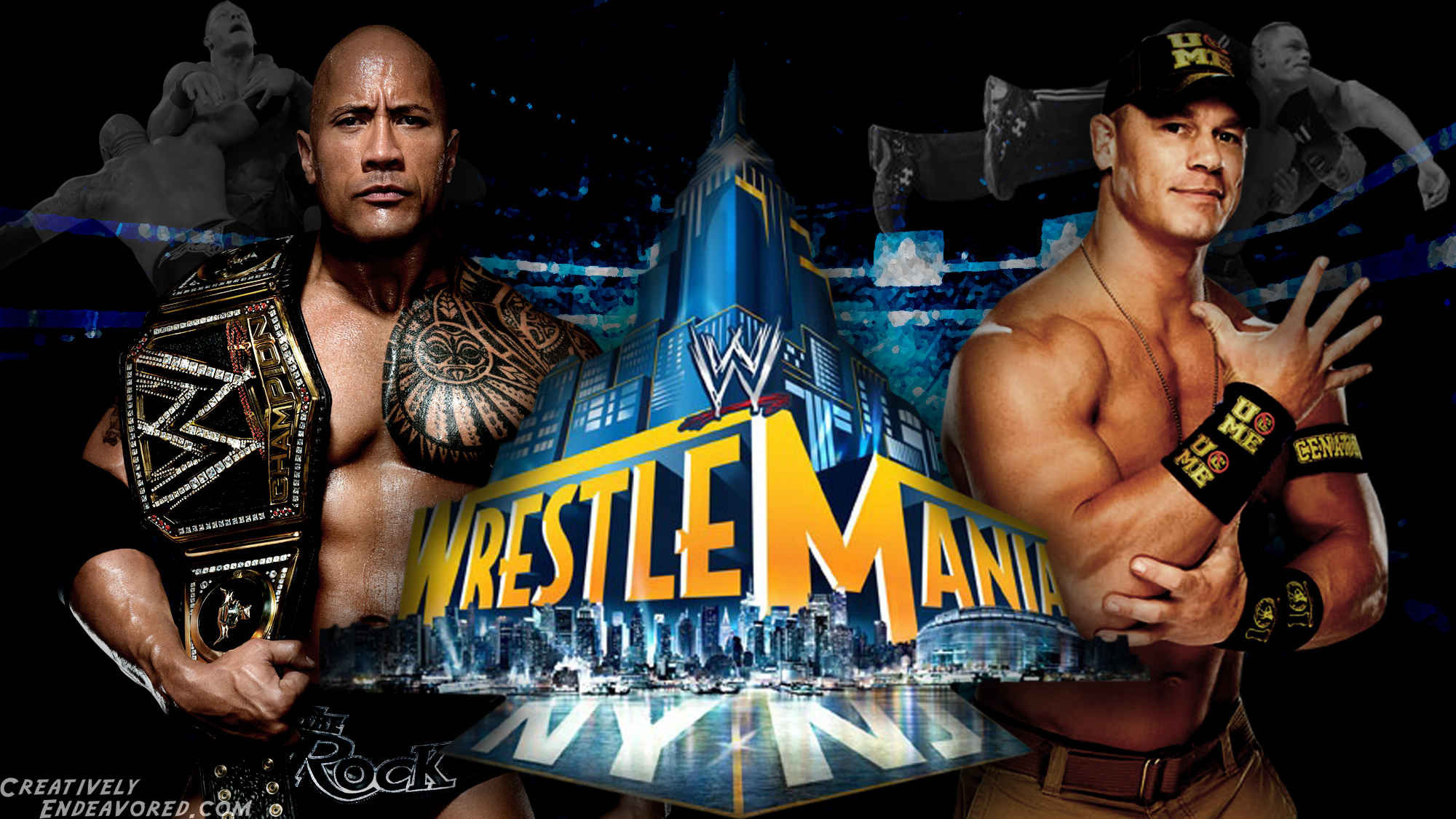 WWE The Rock vs John Cena WrestleMania 29